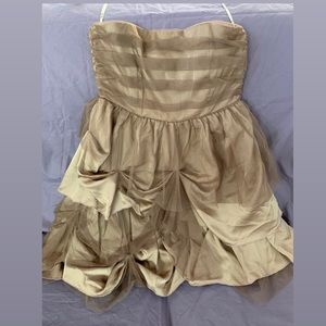 NWT Strapless Dark Tan Miss Me Tulle Dress